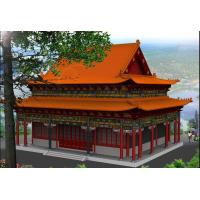 长春钢结构仿古博彩娱乐工程专业设计、制造、安装-长春仿古钢结构